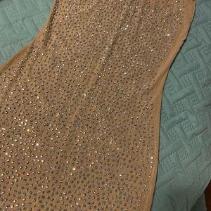 Nude diamond studded dress